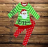 SHIPS FAST-Girls Monogrammed Christmas Outfit-Santa Outfit-SHIPS FAST