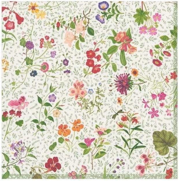 Caspari English Country Garden Paper Cocktail Napkins, 20 Per Package, Multicolor