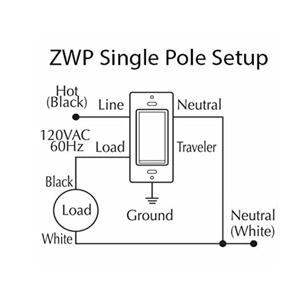 Zwp Z Wave Plus In Wall Smart Light Switch With Instant Status Lighting Wiring Neutral Zwave Home Repeater Compatible Alexa 3 Way On Off