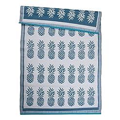 Garden and Outdoor DII Reversible Indoor/Outdoor Pineapple Woven Rug, 4 x 6′, Blue outdoor rugs