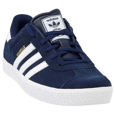 adidas Gazelle 2 Big Kids Style  B24620-Navy Wht Size  4.5 5be0a74482f8