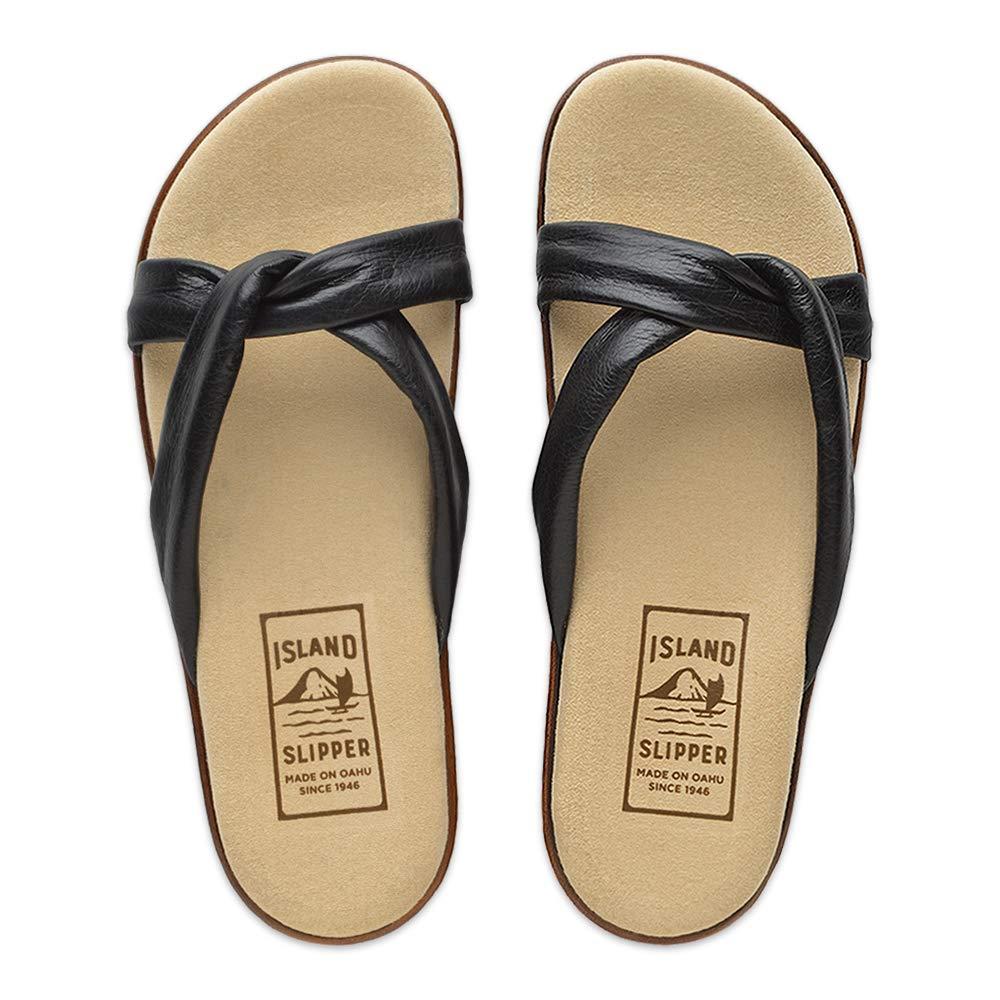 Island Hawaii Women's Lana Slide Sandals Black