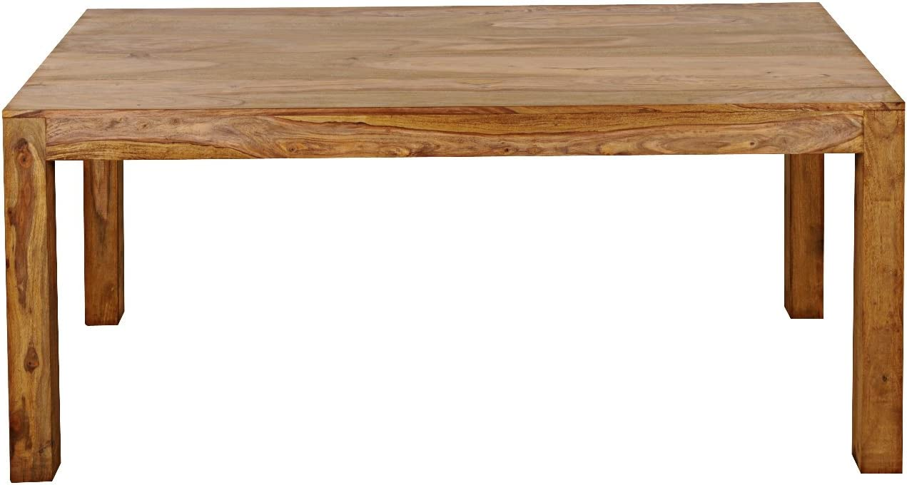 Sam 5187 4 Dining Room Table Solid Sheesham Wood 200 X 100 Cm Country Style Design White Mountain That Are Easy To Clean Surface Amazon De Kuche Haushalt
