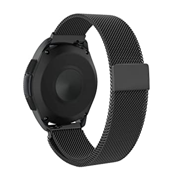 NotoCity Correa Universal de 20mm Acero Inoxidable +Milanesa Compatible con Galaxy Watch 42mm / Gear Sport/Vivoactive 3 Pulsera de Repuesto