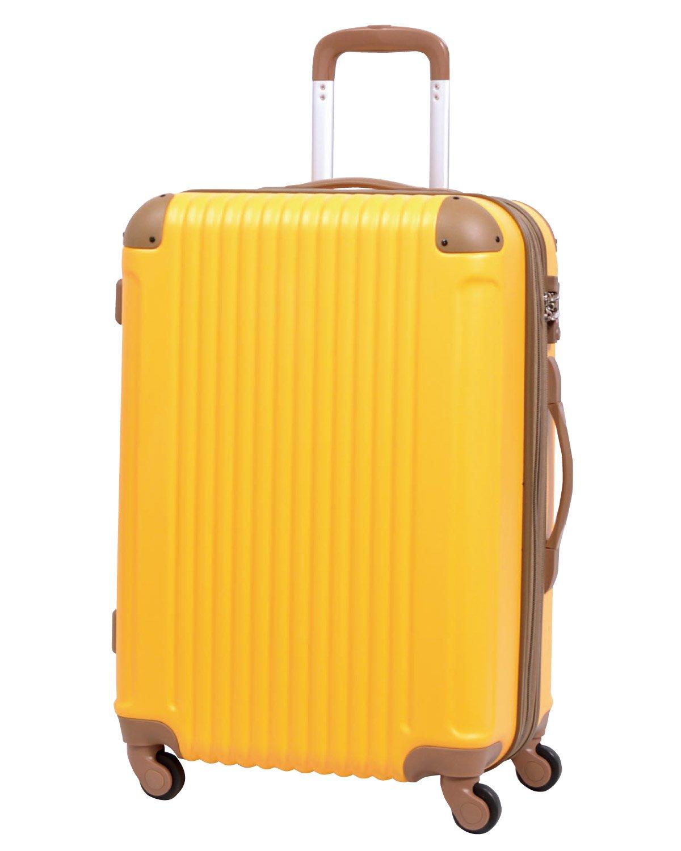 [グリフィンランド]_Griffinland TSAロック搭載 スーツケース キャリーバッグ かわいい エンボス加工 超軽量 newFK1212-1 ファスナー開閉式 S型国内国際線機内持込可 15色3サイズ B01GPHT944 M型|バナナ/チョコ バナナ/チョコ M型