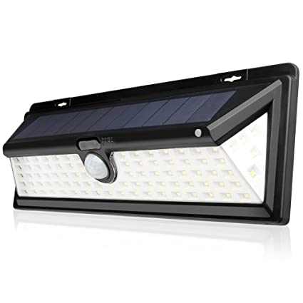 Mlec tech Lámpara Solares 90 LEDs Impermeable con Sensor de Movimiento Solar Luz de Pared Luz
