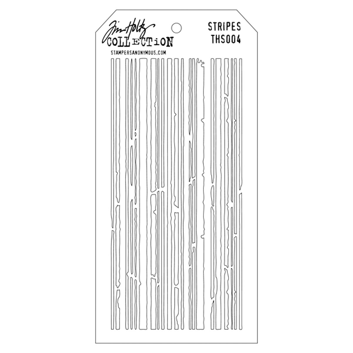 Stampers Anonymous Tim Holtz Layered Stencil, 4.125 by 8.5-Inch, Stripes THS-004
