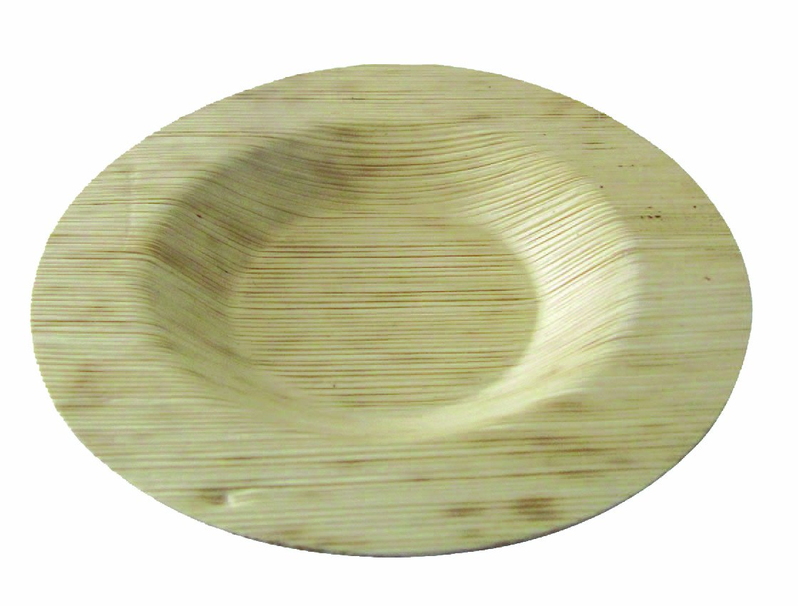 Round Bamboo Leaf Plate (Pack of 1000), PacknWood - Biodegradable Naturally Disposable Paper Dish Plates (3.5'') 210BBOUDISK