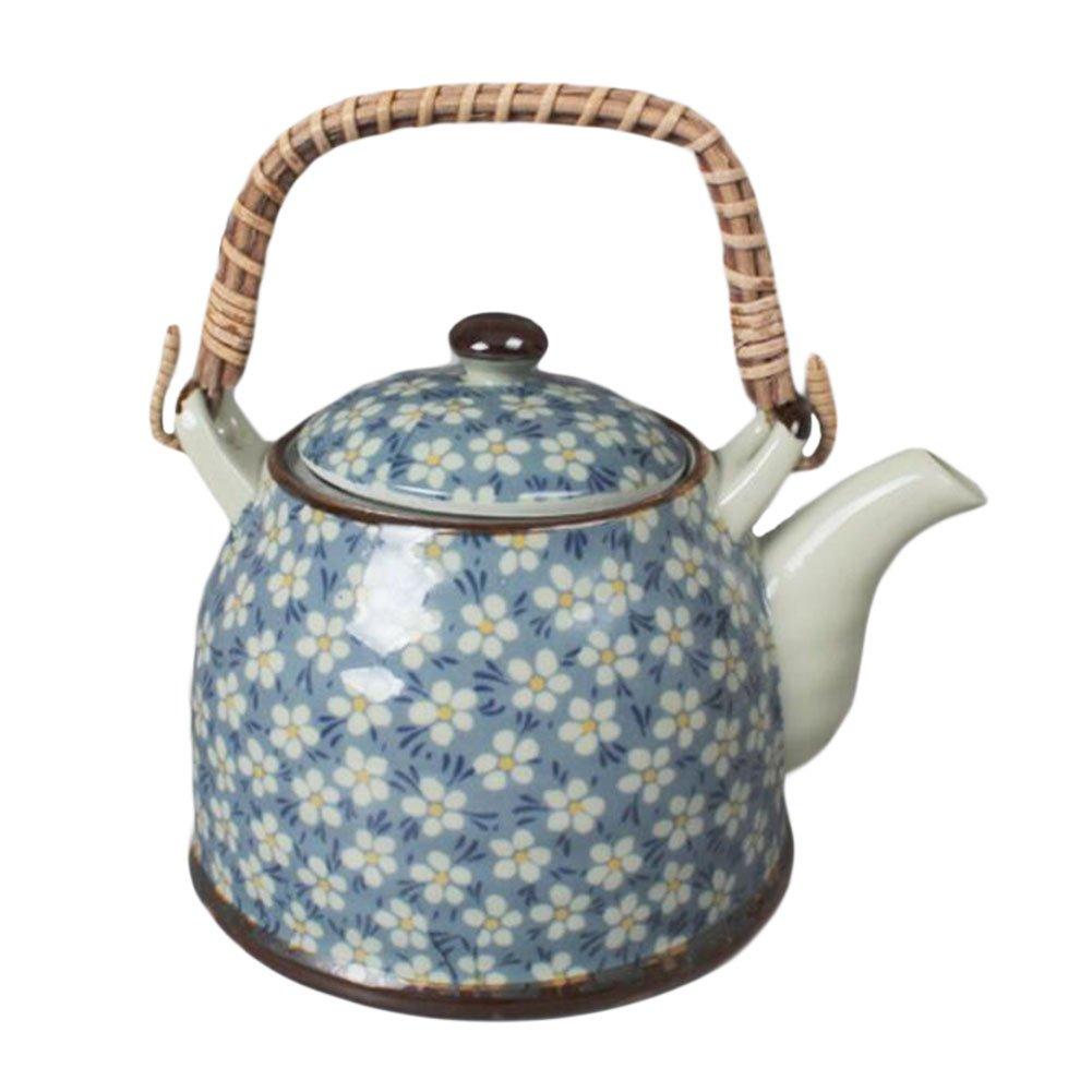 Black Temptation Japanese Style Porcelaine Teapot avec Filtre Plum Blossom 950 ML-Bleu