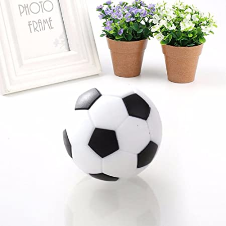 Grifri 6pcs Tabla de Fútbol foos Balls para Mini plástico Blanco y Negro de fútbol: Amazon.es: Deportes y aire libre