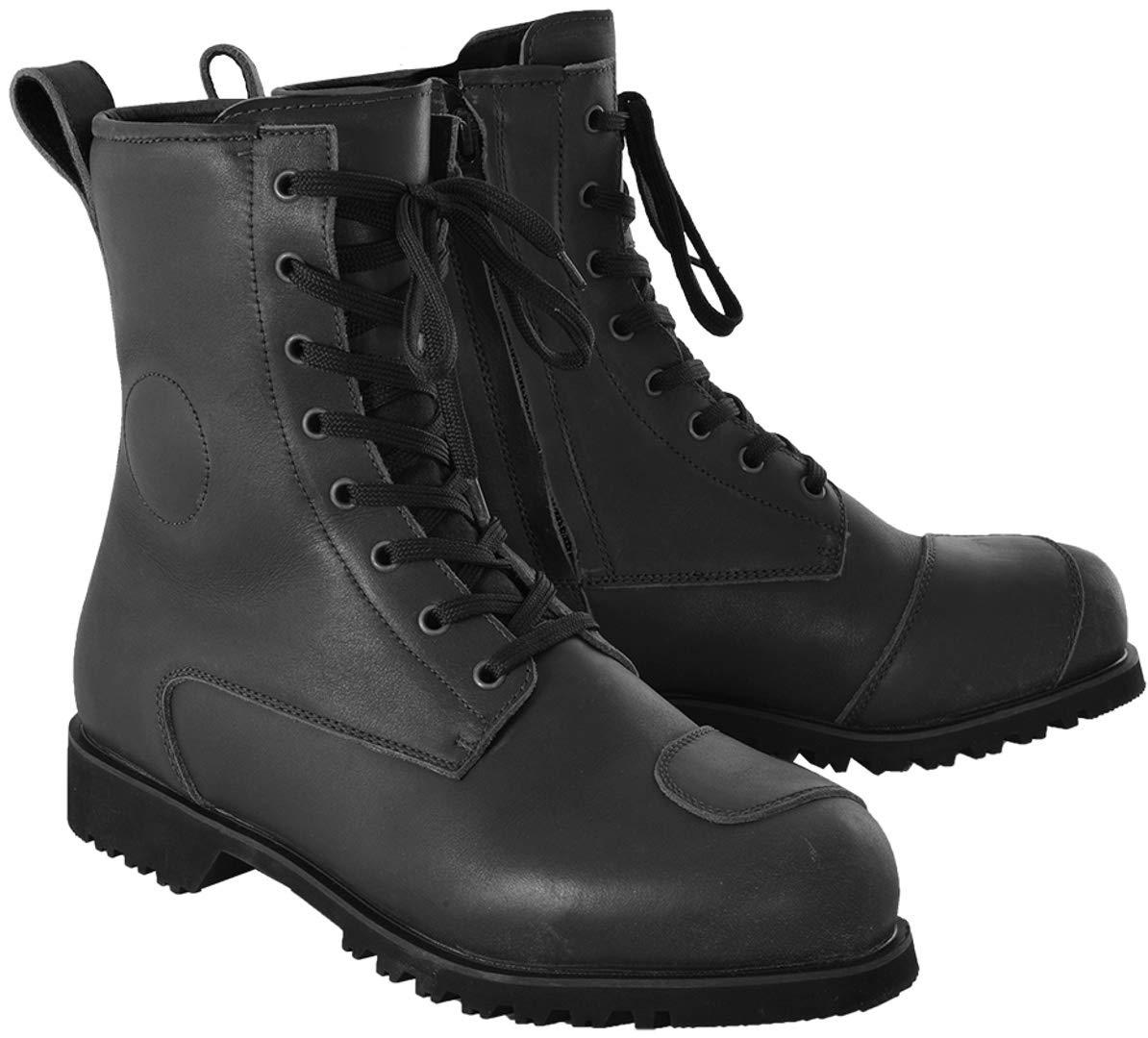 Oxford Merton Heritage Mens Waterproof Leather Motorcycle Boots Black