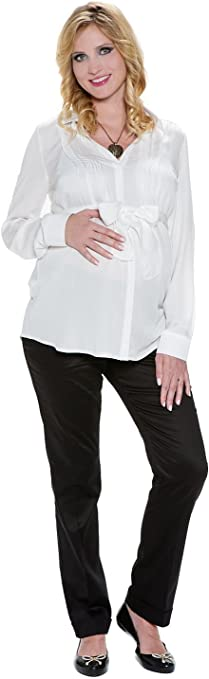 Camisa Premamá Elegante Ana Blanca XL (X-Large): Amazon.es: Ropa y accesorios
