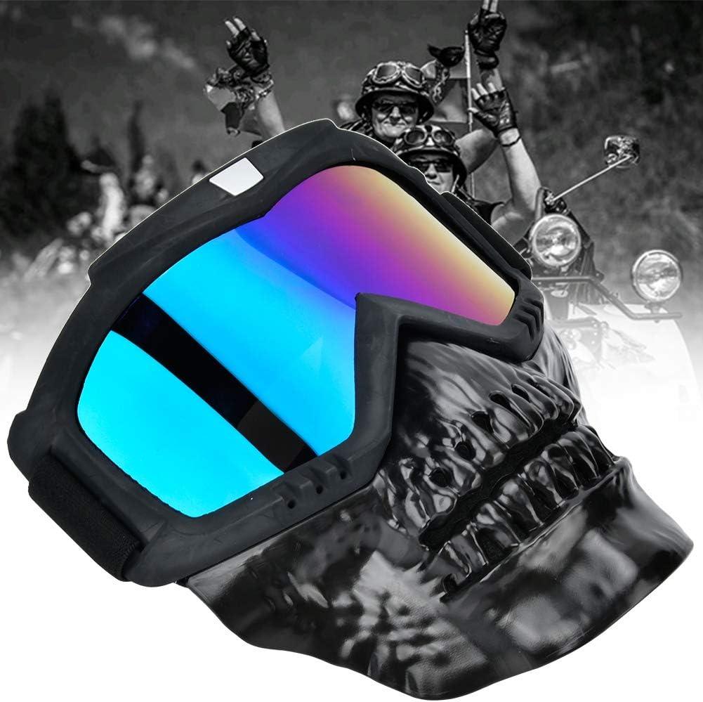 Alomejor Lunettes de Casque de Moto Masque de Moto avec Lunettes de Protection UV Lunettes d/équitation pour Les Sports de Plein air