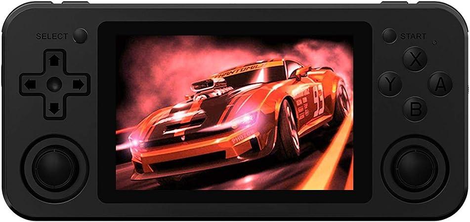 Gray Console de Jeux Retro Open Source System 3.5 Pouces IPS /écran Free with 64G TF Card Built-in 2500 Jeux Support PSP // PS1 // N64 // NDS Anbernic RG351M Consoles de Jeux Portables