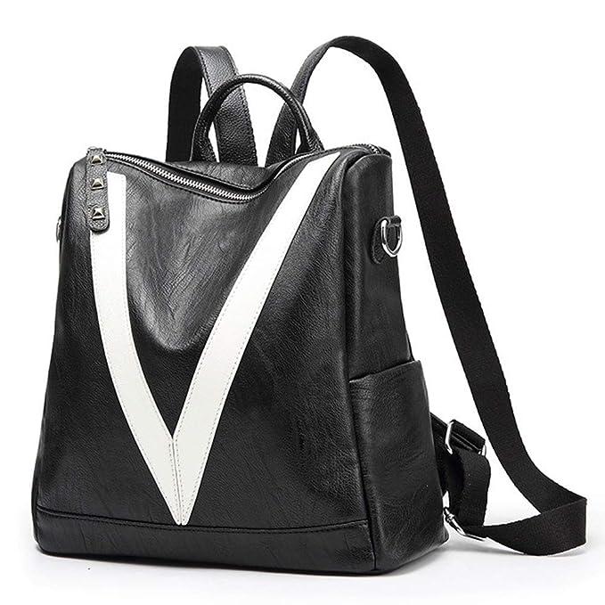 6d84cdd94b5b Amazon.com  V Women Backpack Purse Waterproof Leather Backpack Lightweight  Shoulder Bag College School Fashion Backpacks  Clothing