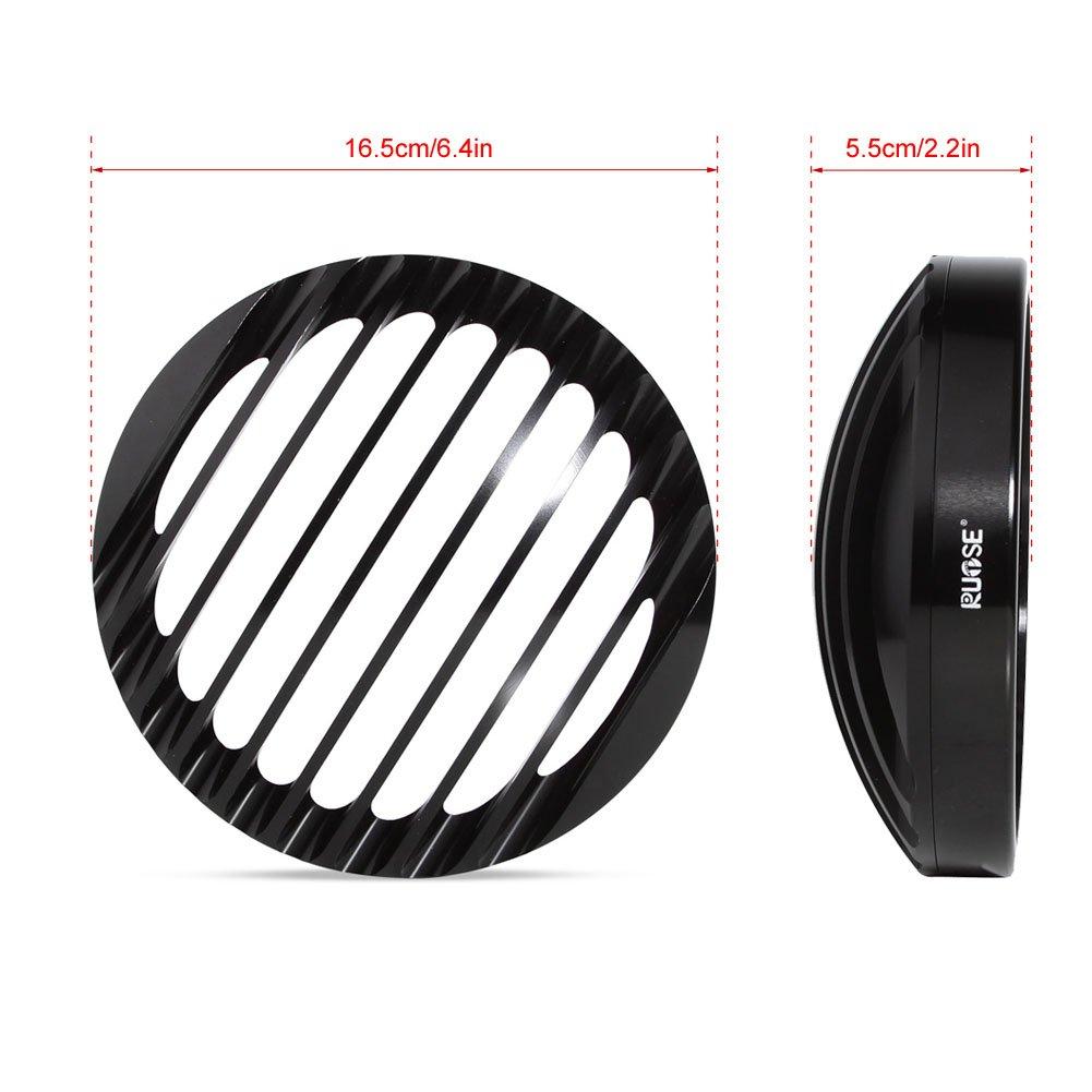 Rupse 2 5 3//4 Phare Grille Headlight Grille en Aluminium Noir pour 04-14 Harley Sp