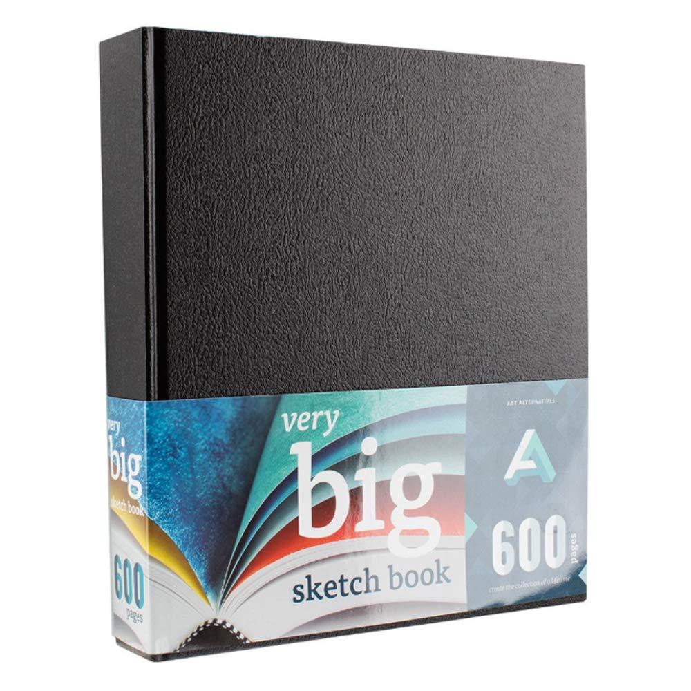 Art Alternatives Sketches in the Making Very Big Hardcover Sketchbook-Giant Sketchbook-600 pages ( 300-sheet)-Black Cover by Art Alternatives