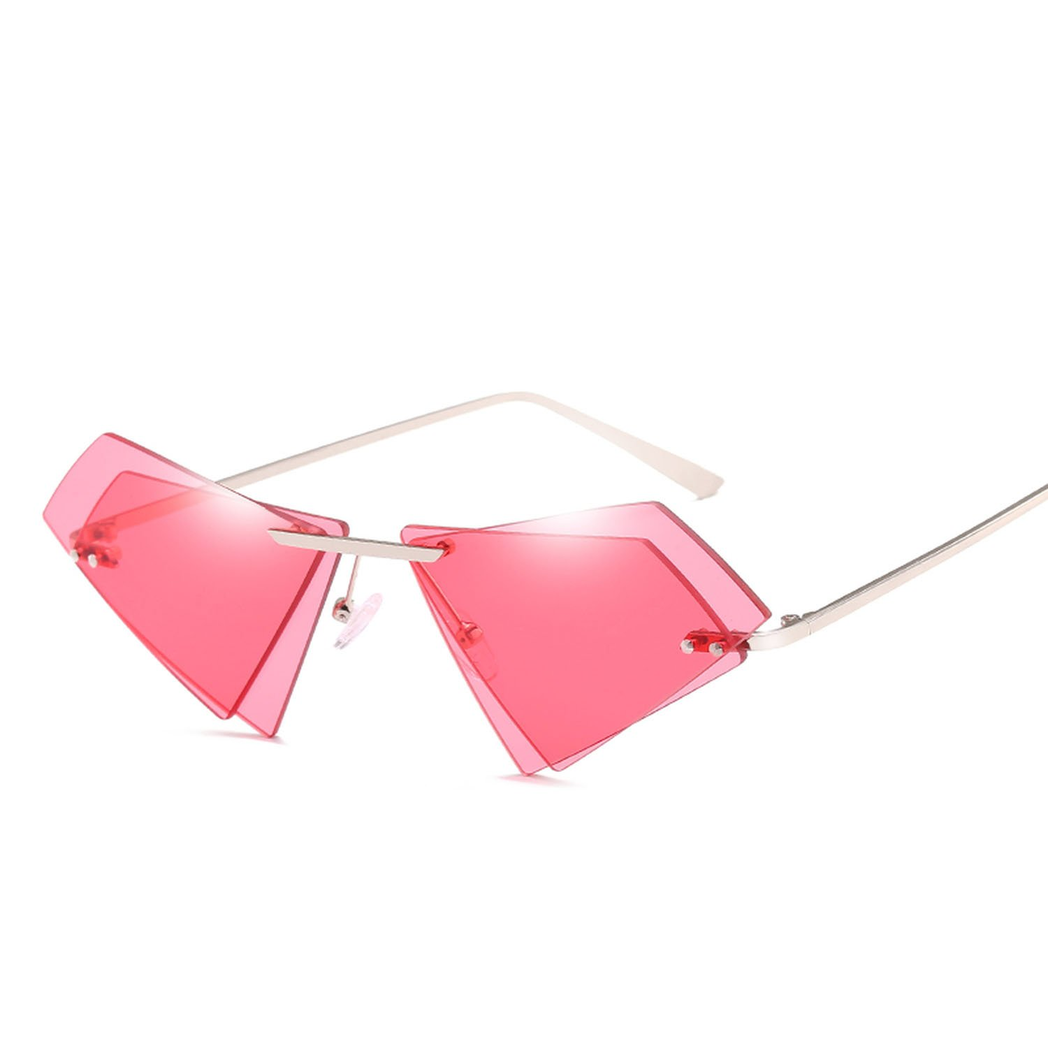 Amazon.com: Gafas de sol Irregular para mujer, doble capa ...