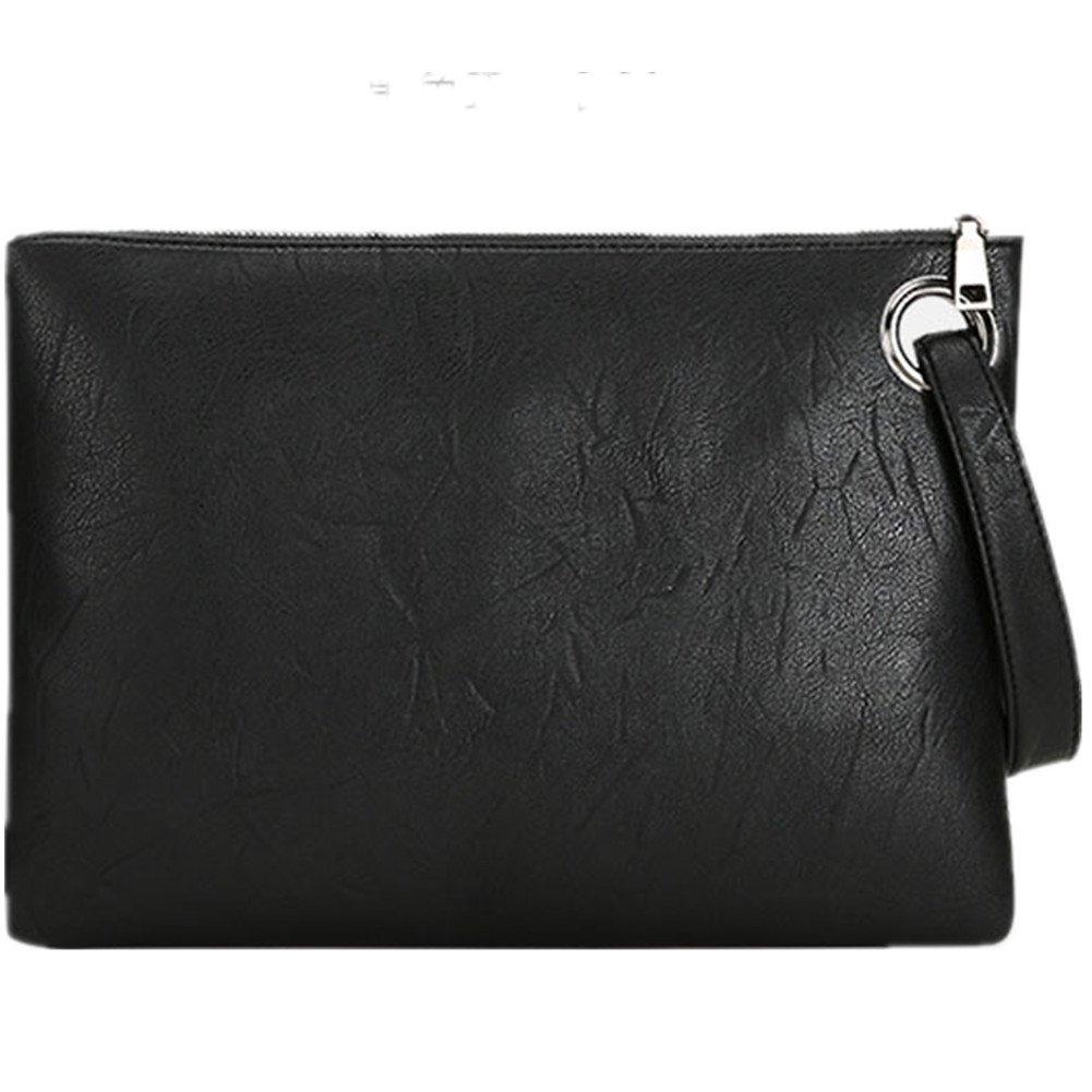 J-BgPink Evening Bags Purse Envelop Clutch Chain Shoulder Womens Wristlet Handbag Foldover Pouch (black)