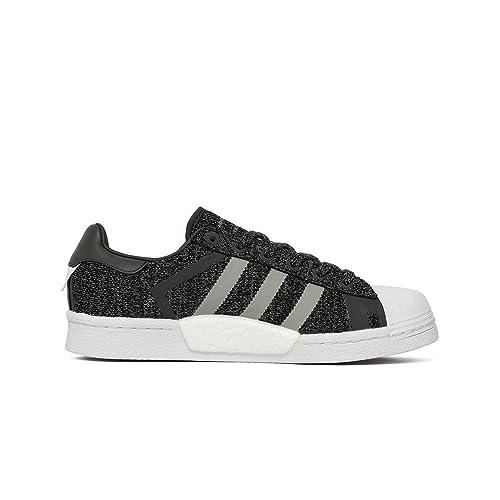 Adidas Superstar WM, Zapatillas de Deporte para Niños, Negro (Negbás/Grpumg / Ftwbla 000), 37 1/3 EU: Amazon.es: Zapatos y complementos