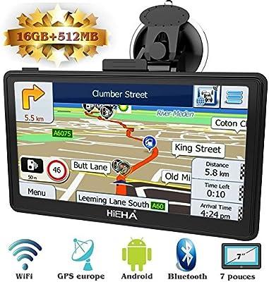 Hieha GPS Navegador WIFI para Coche y Camión Pantalla Capacitiva ...