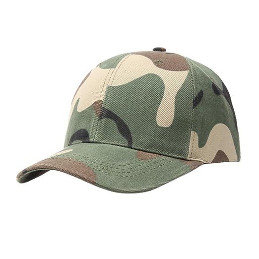 BCDshop Hat Men Women Camo Baseball Caps Outdoor Climbing Hiking Fishing  Caps Dance Hats (Army d76f96acaa5