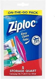 Lot of 20 Ziploc Quart Size Top Seal Bags On The Go TSA Compliant
