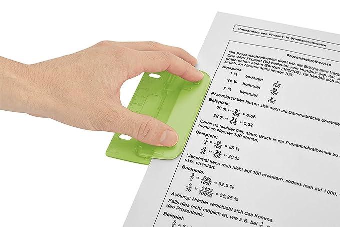 Wedo 67 811 8 cm Flat 2 Hole Pocket Punch - Green: Amazon.co.uk ...