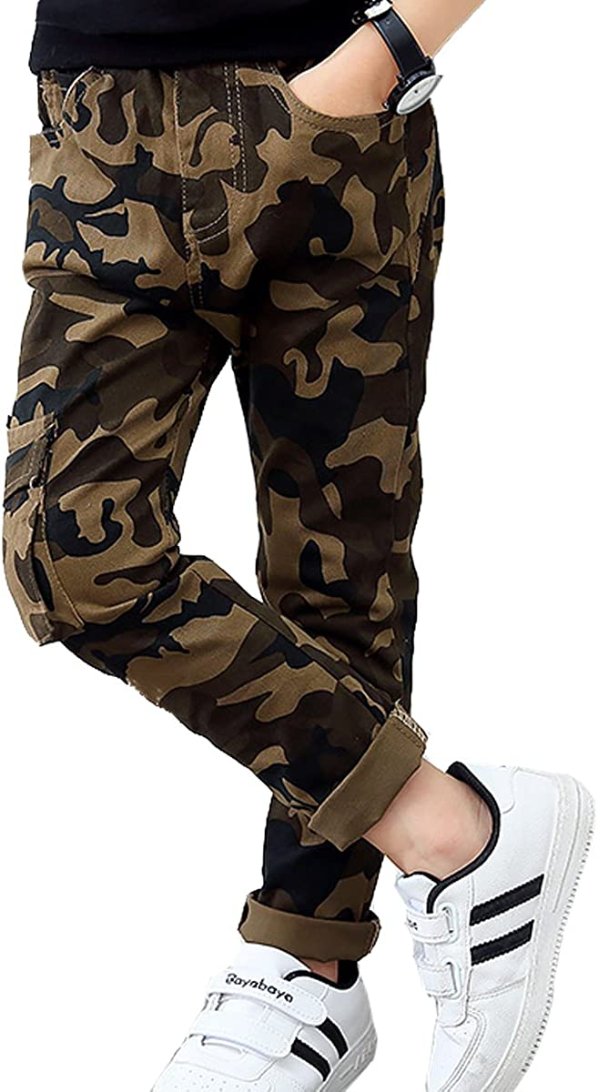Dykmod Boys Trousers Childrens Sports Jogging Sweat Cargo Camouflage Pants 6-13 Years