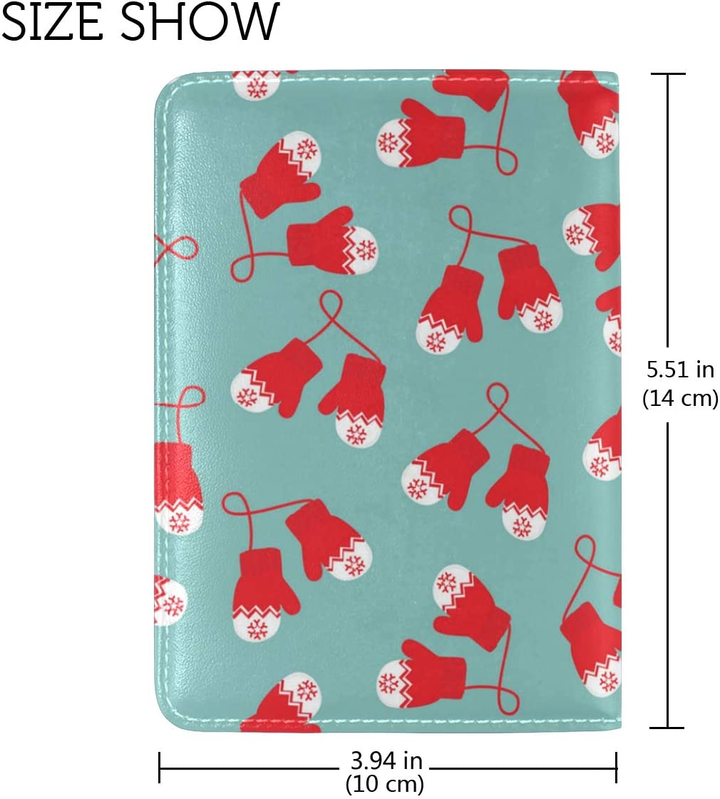 Christmas Red Messy Gloves Leather Passport Wallet for Passport Holder for Safe Trip durable Easy to Carry