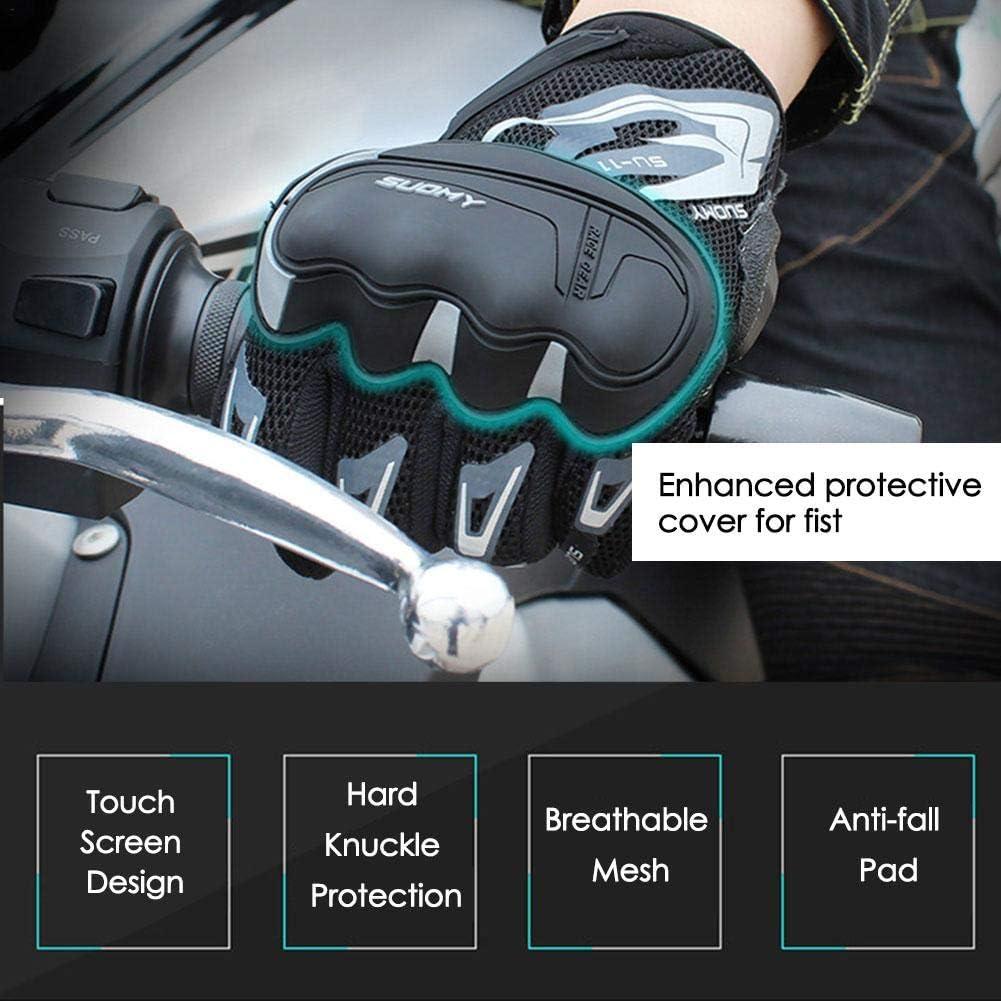 katiway Gants Moto Ete Femme Homme Ecran Tactile Doigt Complet Protection pour Moto VTT Motocross Scooter V/élo Camping Randonn/é
