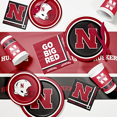 NCAA University of Nebraska Game Day Party Supplies Kit, Serves 8 ()