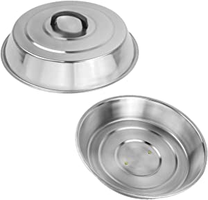 2 Sets BBQ Accessories 12 Inch Round Stainless Steel Basting Cover - Cheese Melting Dome and Steaming Cover, Best for Blackstone Camp Chef Flat Top Griddle Grill Cooking Indoor or Outdoor