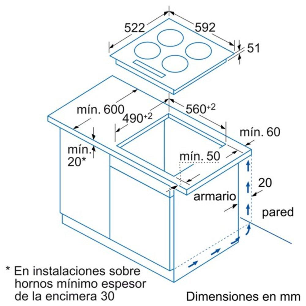 Balay MDA 3EB915LR VITROCERAMICA INDUCCION 3 ZONAS ENCANSTRABLE ...