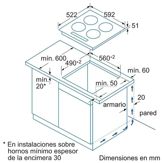 Marvelous Balay 3EB915LR   Vitrocerámica De Inducción, 3 Zonas, Encastrable:  Amazon.es: Hogar
