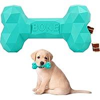 Puppy Toy Small Dog Chew Treat Dispenser Treat Leak Bone Heavy Duty Durable Non Toxic Natural rubber (Small 11.5 cm…