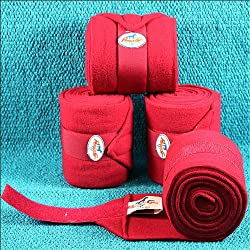 Professional's Choice Polo Wrap 4pk Color: Red