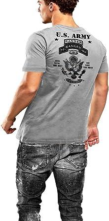 Army Ranger T-Shirt Ranger Sniper 2 SIDED PRINT Grey Tee