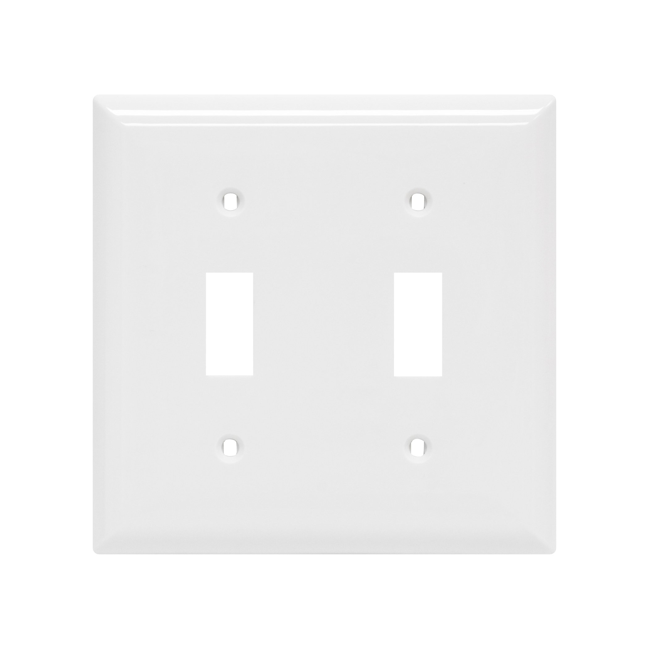 Power Gear Double Toggle Switch Wallplate, White, Unbreakable Nylon, Screws Included, UL Listed, 40025 by Power Gear (Image #1)