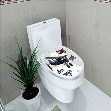 Amazon Com Toilet Applique Going Away Party Decorations