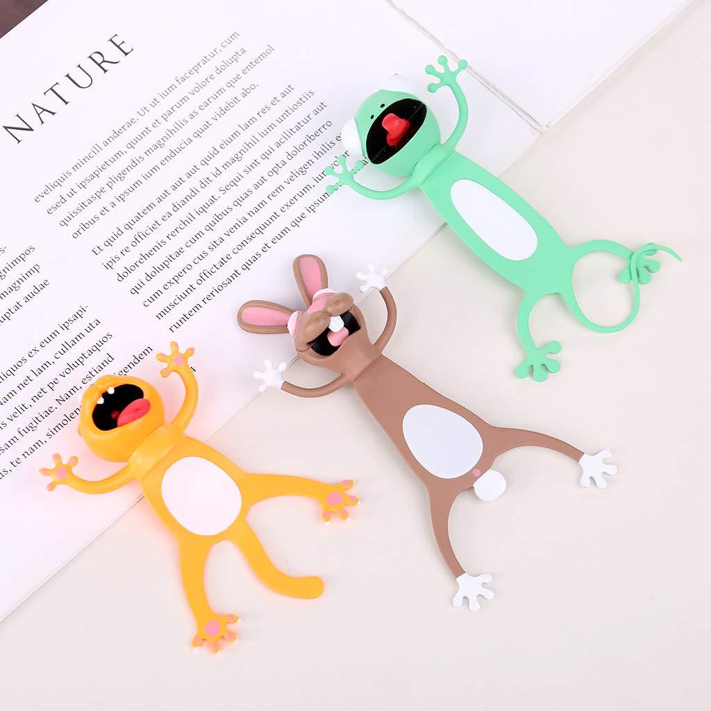 dise/ño de conejo de gato app.7.5x5.5cm//2.95x2.17in E Marcap/áginas 3D con dise/ño de animales regalo divertido para estudiantes y ni/ños