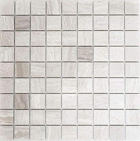 Mosaïque réseau de mosaïque Carrée pour carrelage gris uni ...