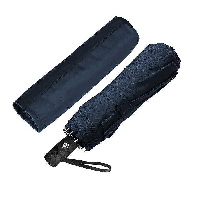 ECHOICE Paraguas Plegable Hombre Automático Antiviento, Paraguas Negro Compacto Resistente al Viento, Paraguas de Viaje (Azul 1): Amazon.es: Deportes y aire ...