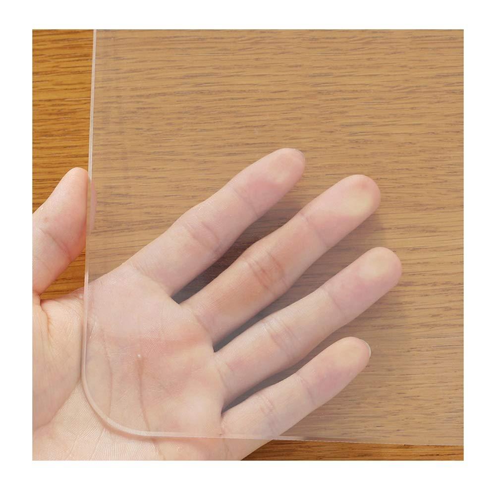 B/ürostuhlunterlage , Transparenter Teppich Haushalt Bodenschutz rutschfest Verschlei/ßfest PVC-Weichglas 19 Gr/ö/ßen Color : 1.3mm, Size : 60x60cm WUZMING-Bodenschutzmatte