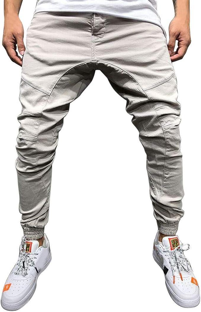 YUTING Hombre Hombre Casual Sportwear Baggy Jogger Pants Slacks hasta El Tobillo Pantalones De CháNdal Pantalones De Hombre: Amazon.es: Ropa y accesorios