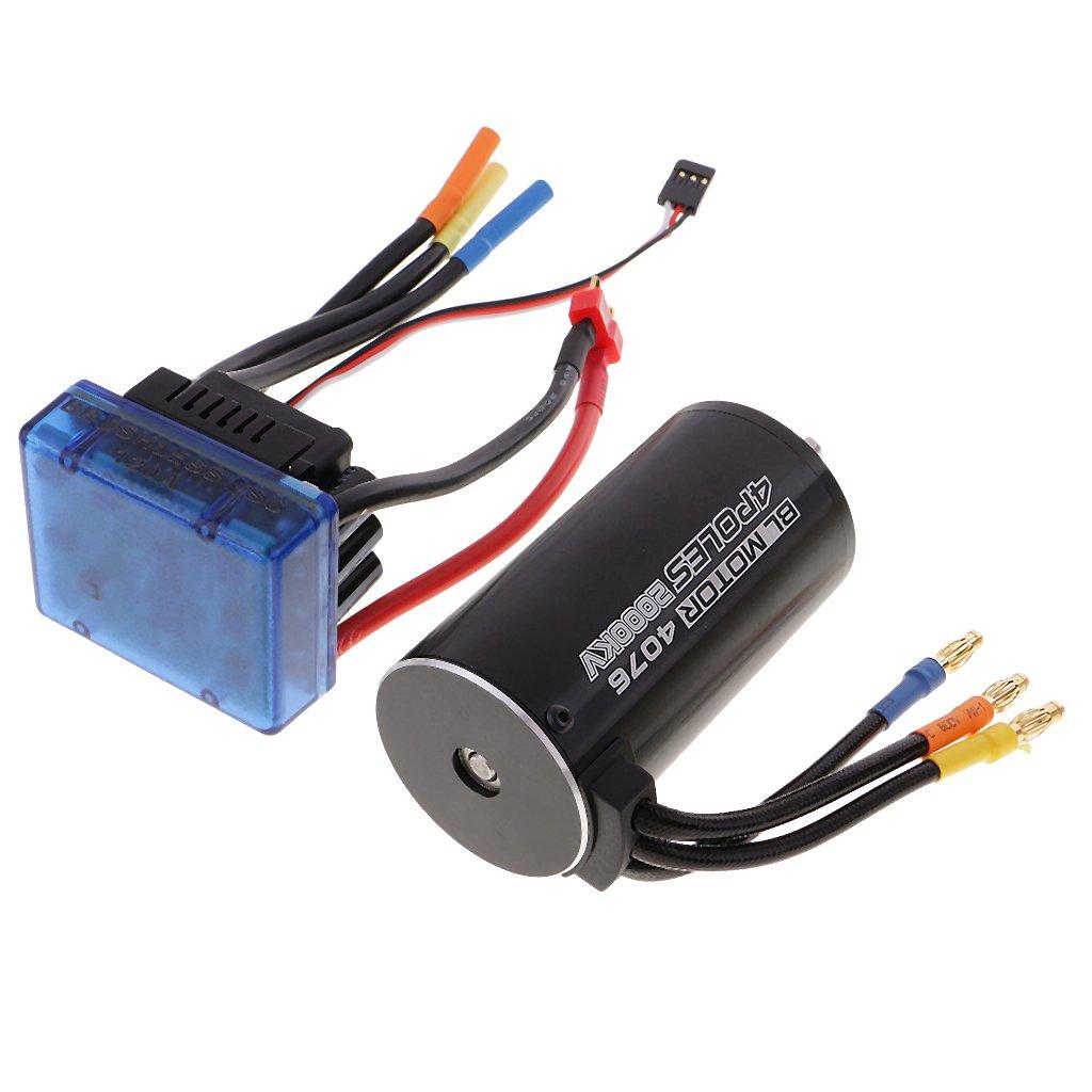 Baoblaze Motore Brushless Sensorless Con Controller Brushless 120A (Regolatore Di Velocità Elettrico) Per 1 8 RC Car