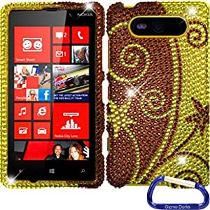 Gizmo Dorks Hard Diamond Skin Case Cover for the Nokia Lumia 820, Elegant Swirl