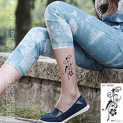Zokey impermeable tatuaje temporal flors vides pierna tobillo ...