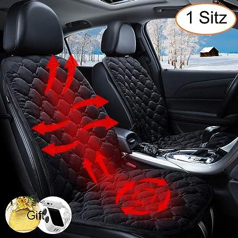 Auto Sitzheizung Heizkissen Heizauflage Heizstufe beheizbar Kissen 12V Sitzheizung Auto Heizkissen Beheizte Sitzauflage Universal Regulierbare Vordersitz Heizauflage