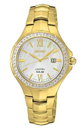 SEIKO Gold Stainless steel Watch-SUT242P9